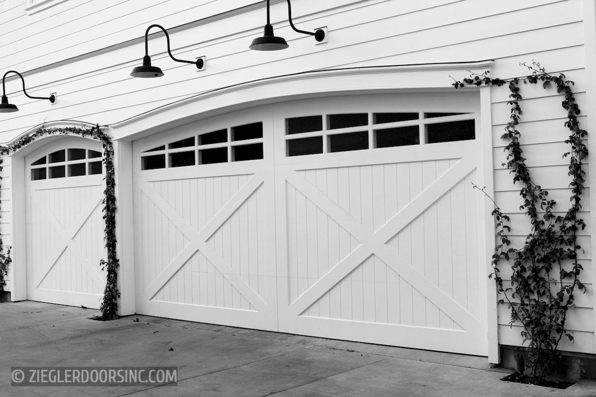 Farmhouse Wood Garage Doors Ziegler Doors Inc